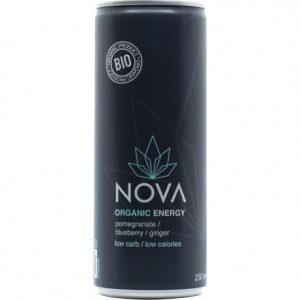 Nova Organic Energy granaatappel, bosbessen en gember